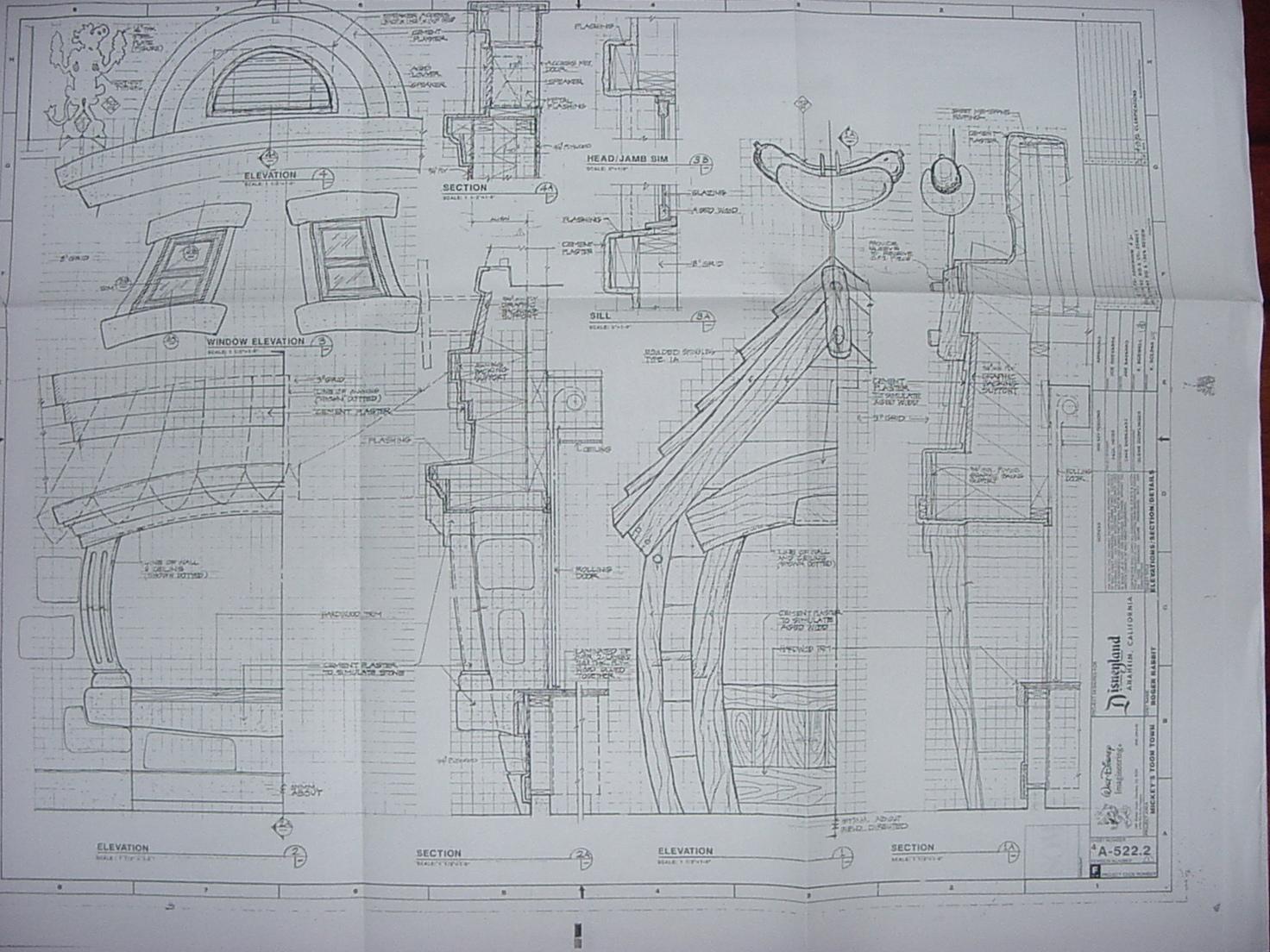 Disneyland Toontown Blueprints