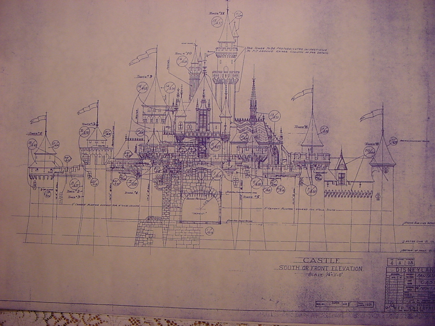 Disneyland's Fantasyland Blueprints