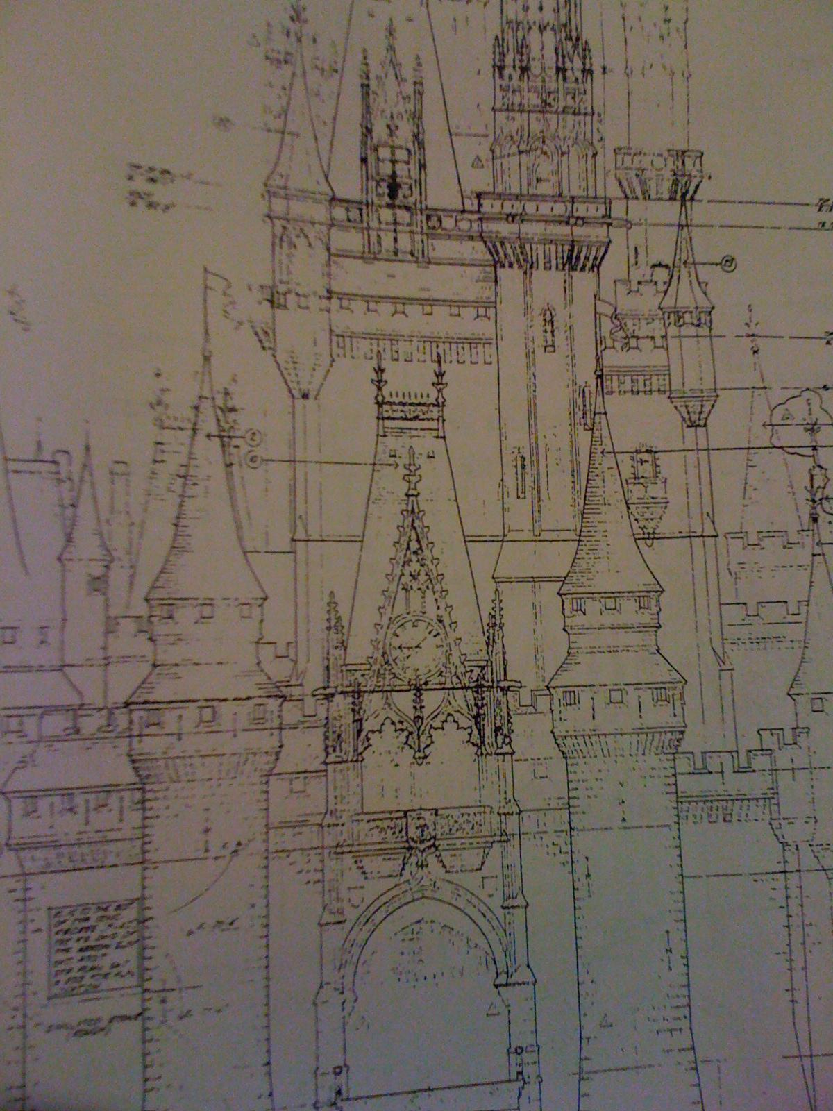 Walt disney world fantasyland blueprints for Castle blueprints